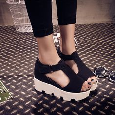 SUMMER STYLE 2017 Platform Sandals Shoes Women High Heel Casual Shoes Open Toe Platform Gladiator Trifle Sandals Women Shoes