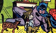 My sister says I post to much nerdy stuff. So, to keep her honest, here is Batman with some cats. Crazy Cat Lady, Crazy Cats, Batman Love, Comic Art, Comic Books, Comic Book Panels, Cat People, Batman Comics, Nerd Geek