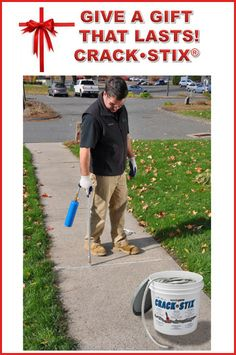 Crack Stix Permanent, Lifetime Guarantee Concrete Crack and Joint filler -- GIVE A GIFT THAT LASTS! Driveway Sealer, Driveway Repair, Things To Know, Cool Things To Buy, Blacktop Driveway, Asphalt Repair, Concrete Resurfacing, Concrete Crafts, Home Improvement