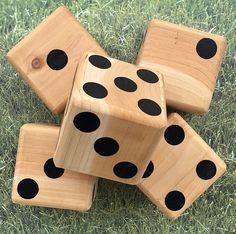 Yard Dice Yardzee Outdoor game large wood dice tailgating