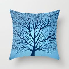 Big Blue Throw Pillow by Knockout Art By Poppy Copley. Worldwide shipping available at Society6.com. Just one of millions of high quality products available.