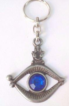 Keychain Holy EYE Israel Jerusalem - Key Ring Judaica