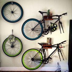 Wooden Bike Rack Wall Mount
