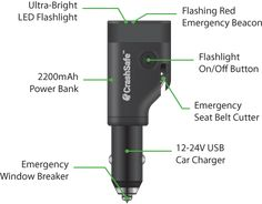 Led Lighting Intelligent Newest Led Flashlight Multi-function Hammer Seatbelt Cutter 2200mah Power Bank Car Emergency Survival Kit @8 In Pain