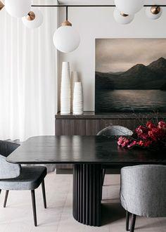 High-end Interior Design, Rose Bay Luxury Dining Tables, Dining Table Design, Modern Dining Table, Dining Room Table, Dining Room Inspiration, Design Inspiration, Luxury Interior Design, Küchen Design, Interiores Design