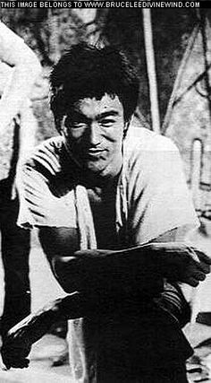 The Way of The Dragon. Bruce Lee on set.