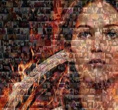 Find Your Salute in The Hunger Games: Catching Fire Mosaic