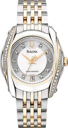 Bulova Women's Precisionist Tanglewood Diamond Two-Tone Bracelet Watch  http://swisswatchbargains4u.com/page/2/