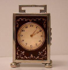 English Silver Carriage Clock, London 1924, Goldsmiths & Silversmiths...