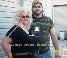 Homemade Dog the Bounty Hunter and Beth Costumes: I got the idea for these costumes actually from this website (coolest-homemade-costumes). I thought the idea would be really fun and it was!  For Dog's