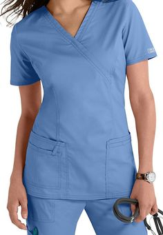 This Cherokee Workwear Core Stretch mock-wrap scrub top is a classic - and we can't get enough of this Purple Blast color! Scrubs Outfit, Scrubs Uniform, Nursing Clothes, Nursing Dress, Core Stretches, Cherokee Scrubs, Medical Scrubs, Nursing Scrubs, Icu Nursing