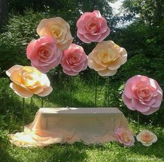 Thai paper art dikulya67: Гигантские бумажные цветы. Декор для праздников. Видео…