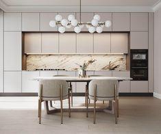 Kitchen Room Design, Modern Kitchen Design, Home Decor Kitchen, Kitchen Furniture, Interior Design Living Room, Kitchen Living, Modern Kitchen Interiors, Modern Interior, Modern Decor