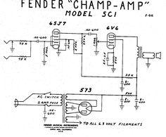 Fender Champ Tube Amp Schematic - Model 5C1