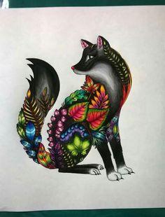 Raposa (Paula Oda) lapis cor e canetinha