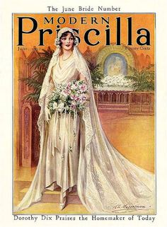 Modern Priscilla June Bride Number June 1930 ME Musselman Vintage Wedding Photos, Vintage Bridal, Vintage Images, Vintage Weddings, Vintage Modern, Style Année 20, June Bride, Vintage Outfits, Vintage Fashion