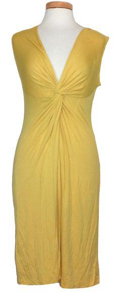 BCBG Max Azria Womens Dress KAREN Twist Front Sleeveless Yellow Sz M NEW $128 #BCBGMAXAZRIA #Sexy #Casual