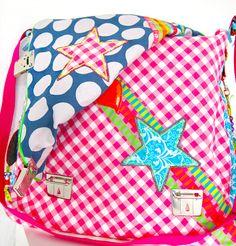 """Bube"" Messenger bag, in bright colours, [leuchtend bunt]  #farbenmix #taschenspieler"