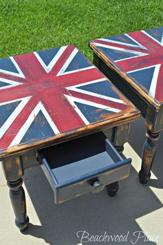 Chalk Painted Union Flag Tables