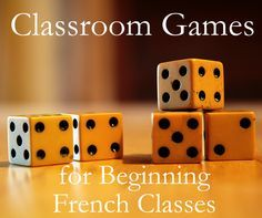 Games for Introductory / Beginning French Classes Classroom games you can use in your first semester / first year French classes.Classroom games you can use in your first semester / first year French classes. Dice Games, Activity Games, Fun Games, Games To Play, Learning Games, Math Activities, Spanish Activities, Activity Ideas, Group Games