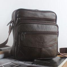 Men Genuine Leather Small Handbag Shoulder Bag Crossbody Zip Purse Satchel Sling #Unbranded #MessengerShoulderBag Mens Waist Bag, Satchel, Shoulder Bag, Backpacks, Purses, Zip, Leather, Bags, Handbags