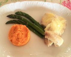 Puré de cenoura com peixe estufado - Nutrição com Coração