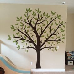 Family tree wall decal ideas murals ideas for 2019 Family Tree Mural, Family Tree Wall Sticker, Family Trees, Wall Stickers Tree, Tree Wall Painting, Tree Wall Art, Mural Wall, Tree Design On Wall, Diy Painting