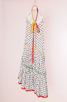 Giorgio di Saint' Angelo 1970 halter neck polka-dot, asymmetrical summer dress.  charnalee                 Etsy