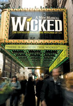 Wicked on Broadway. THEE COOLEST PLAY EVER! & it was on my bucket list to see a broadway musical. Awesome, awesome, awesome show. >>> it's the only show I've seen on Broadway Broadway Wicked, Wicked Musical, Broadway Plays, Broadway Theatre, Musical Theatre, Broadway Shows, Broadway Nyc, Musicals Broadway, Broadway Sign