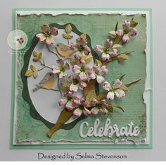 I love dogwood trees.  Today I used Susan's Garden Dogwood die set along with the Love Birds die set to create this card.     Two Dogwo...