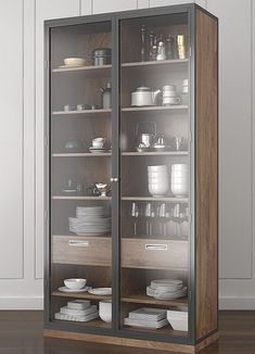 Modern Kitchen Design, Interior Design Kitchen, Cupboard Design, Cupboard Ideas, Glass Kitchen Cabinets, Pioneer Woman Kitchen, Partition Design, Small Cabinet, Living Room Interior