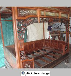 CHINESE WEDDING BEDS   Antique Chinese Wedding Bed