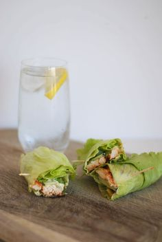 clean & lean lettuce wraps.