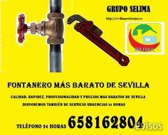 FONTANERO MUY BARATO  GRUPO SELIMA, le ofrece el fontanero más económico de Sevi ..  http://sevilla-city.evisos.es/fontanero-muy-barato-id-657974