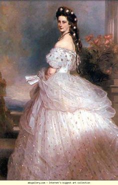 Franz Xaver Winterhalter. Empress Elisabeth. Olga's Gallery.