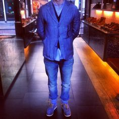 Sharp and blue #redwingshoes and #nigelcabourn  #RRL!