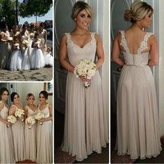 Long Bridesmaid Dress,A line Bridesmaid Dress,Fashion Bridesmaid Dress,Charming