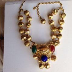 Kenneth Jay Lane 2-Strand Gold Tone Necklace #KennethJayLane
