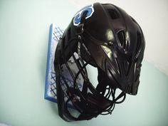 Helmet Hanger Lacrosse Lax Football Hockey Handmade by sportyracks, $30.00 on etsy.com