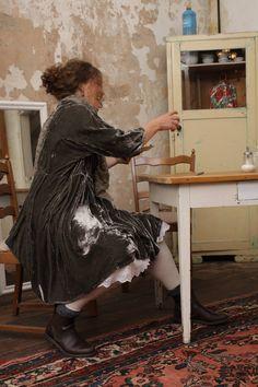 samt und seidenkleider von handdyed cocon commerz PRIVATSACHEN silkdresses and silkvelvet dresses