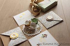 explosionsbox zur Hochzeit, Spiralblume, Envelope Punch Board