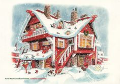 by Mauri Kunnas Christmas Books, Christmas Cards, Xmas, Scandinavian Christmas, Various Artists, Christmas Traditions, My Children, Elves, Gnomes