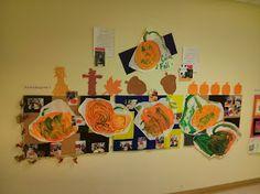 Fall 2013 Art Show @ Sandcastle Preschool; Pumpkins- mixing colors