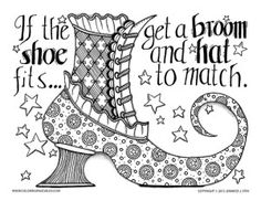 Witches Shoe ~ if the shoe fits...get a broom and hat to match