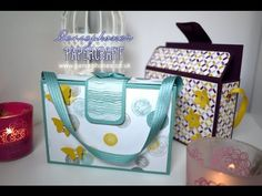 Hand Made Gift Box for Chunky Cards - Tutorial with Stampin' Up Painted Petals and Petal Potpourri - YouTube