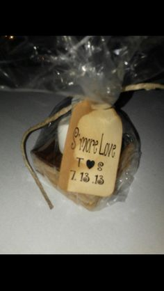 Cute fall wedding favor.