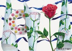 Composition Design, Little Things, Design Art, Layout, Colours, Japan, Watercolor, Painting, Study
