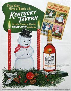 1953 Kentucky Tavern ad from #RetroReveries