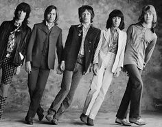 """This week's #inspiration is The Rolling Stones. The Stones are a band founded in London in 1962 by Brian Jones, Ian Stewart, Mick Jagger, Keith Richards, Bill Wyman, and Charlie Watts. The take their name from the Muddy Waters song """"Rollin' Stone""""...."""