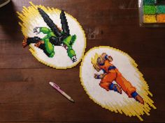 Goku vs. Cell - Dragon Ball perler sprites by Ellsworth-Toohey on DeviantArt